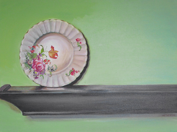 Plate with Green Background