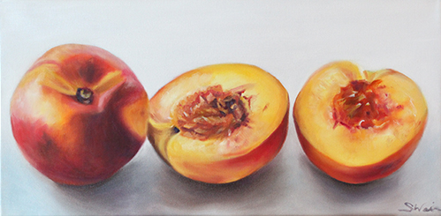 Nectarines in a row