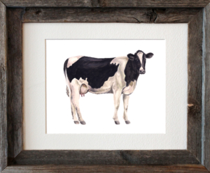 Cow Framed