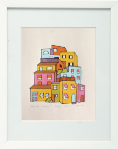 Pastel Homes Framed