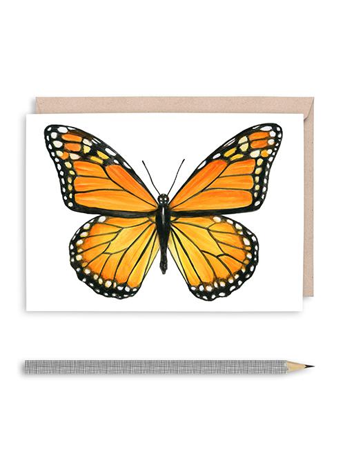 Monarch II Butterfly Blank Greeting Card