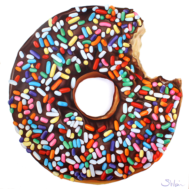 Chocolate Donut with Sprinkles II